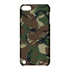 Army Shirt Grey Green Blue Apple iPod Touch 5 Hardshell Case with Stand