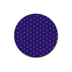 Blue Yellow Sign Magnet 3  (Round)