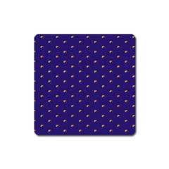 Blue Yellow Sign Square Magnet