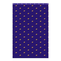 Blue Yellow Sign Shower Curtain 48  x 72  (Small)