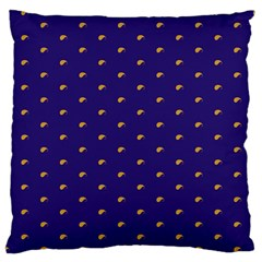 Blue Yellow Sign Large Cushion Case (One Side)