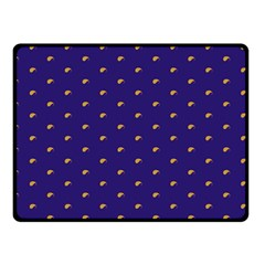Blue Yellow Sign Double Sided Fleece Blanket (small)
