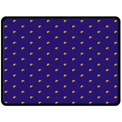 Blue Yellow Sign Double Sided Fleece Blanket (Large)