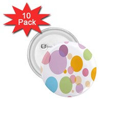 Bubble Water Yellow Blue Green Orange Pink Circle 1.75  Buttons (10 pack)