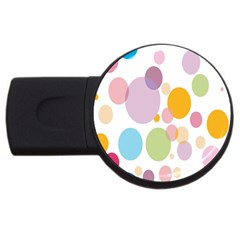 Bubble Water Yellow Blue Green Orange Pink Circle USB Flash Drive Round (1 GB)