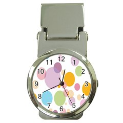 Bubble Water Yellow Blue Green Orange Pink Circle Money Clip Watches
