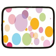 Bubble Water Yellow Blue Green Orange Pink Circle Netbook Case (XXL)