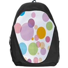 Bubble Water Yellow Blue Green Orange Pink Circle Backpack Bag