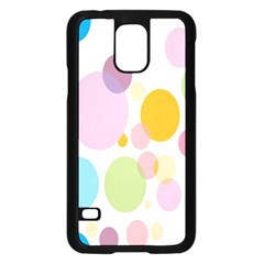 Bubble Water Yellow Blue Green Orange Pink Circle Samsung Galaxy S5 Case (Black)