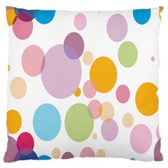 Bubble Water Yellow Blue Green Orange Pink Circle Large Flano Cushion Case (One Side)