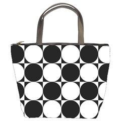 Circles Black White Bucket Bags