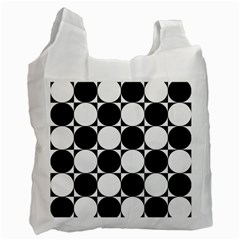 Circles Black White Recycle Bag (Two Side)