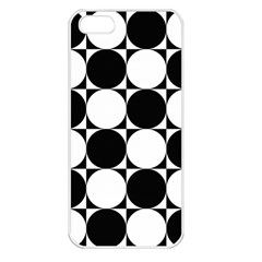 Circles Black White Apple iPhone 5 Seamless Case (White)