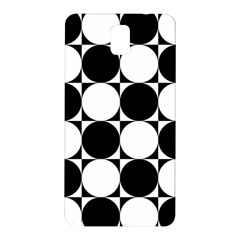 Circles Black White Samsung Galaxy Note 3 N9005 Hardshell Back Case