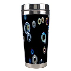 Bubble Light Black Stainless Steel Travel Tumblers