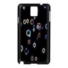 Bubble Light Black Samsung Galaxy Note 3 N9005 Case (Black)