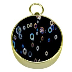 Bubble Light Black Gold Compasses