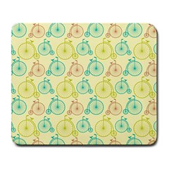 Wheel Bike Round Sport Color Yellow Blue Green Red Pink Large Mousepads