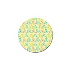 Wheel Bike Round Sport Color Yellow Blue Green Red Pink Golf Ball Marker (10 pack)