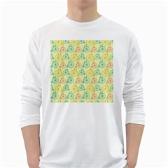 Wheel Bike Round Sport Color Yellow Blue Green Red Pink White Long Sleeve T-Shirts