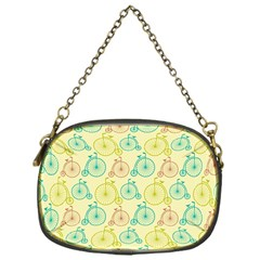 Wheel Bike Round Sport Color Yellow Blue Green Red Pink Chain Purses (One Side)