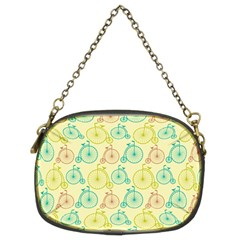 Wheel Bike Round Sport Color Yellow Blue Green Red Pink Chain Purses (Two Sides)