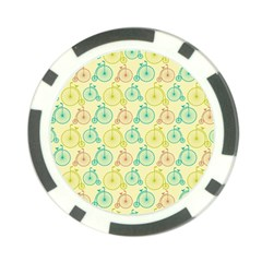 Wheel Bike Round Sport Color Yellow Blue Green Red Pink Poker Chip Card Guard (10 pack)