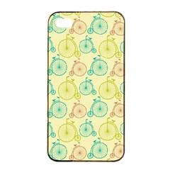 Wheel Bike Round Sport Color Yellow Blue Green Red Pink Apple iPhone 4/4s Seamless Case (Black)