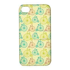Wheel Bike Round Sport Color Yellow Blue Green Red Pink Apple iPhone 4/4S Hardshell Case with Stand