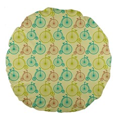Wheel Bike Round Sport Color Yellow Blue Green Red Pink Large 18  Premium Flano Round Cushions