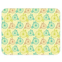 Wheel Bike Round Sport Color Yellow Blue Green Red Pink Double Sided Flano Blanket (Medium)