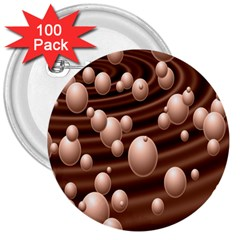 Choco Bubbles 3  Buttons (100 pack)