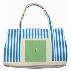 Coffee Desktop Cup Smile Face Blue Striped Blue Tote Bag