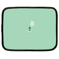 Coffee Desktop Cup Smile Face Blue Netbook Case (XXL)