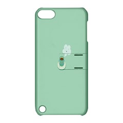 Coffee Desktop Cup Smile Face Blue Apple iPod Touch 5 Hardshell Case with Stand