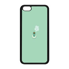 Coffee Desktop Cup Smile Face Blue Apple iPhone 5C Seamless Case (Black)