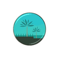 Coconut Palm Trees Sea Hat Clip Ball Marker (4 pack)