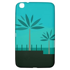 Coconut Palm Trees Sea Samsung Galaxy Tab 3 (8 ) T3100 Hardshell Case