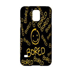 Bored Face Smile Sign Yellow Black Mask Samsung Galaxy S5 Hardshell Case