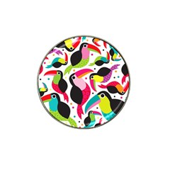 Colorful Toucan Retro Kids Pattern Bird Animals Rainbow Purple Flower Hat Clip Ball Marker (10 pack)