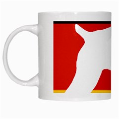 German Wirehaired Pointer Silo On Flag White Mugs
