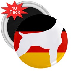 German Wirehaired Pointer Silo On Flag 3  Magnets (10 pack)