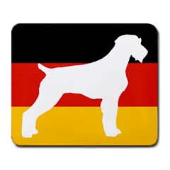 German Wirehaired Pointer Silo On Flag Large Mousepads