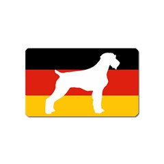 German Wirehaired Pointer Silo On Flag Magnet (Name Card)