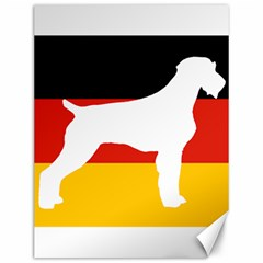 German Wirehaired Pointer Silo On Flag Canvas 12  x 16