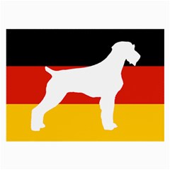 German Wirehaired Pointer Silo On Flag Large Glasses Cloth