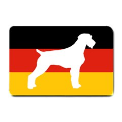 German Wirehaired Pointer Silo On Flag Small Doormat
