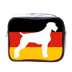 German Wirehaired Pointer Silo On Flag Mini Toiletries Bags