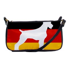 German Wirehaired Pointer Silo On Flag Shoulder Clutch Bags