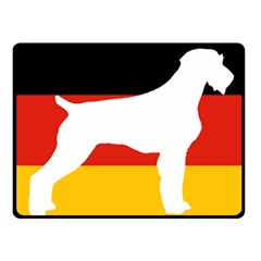 German Wirehaired Pointer Silo On Flag Fleece Blanket (Small)